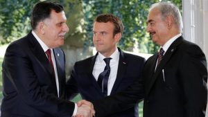 Faiez Serraj and Khalifa Hafter agree terms, mentored by French President Emmanuel Macron (Photo: Social media)