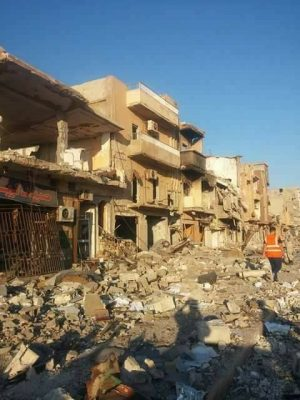 The destruction in Sabri is extensive (Photo: social media)