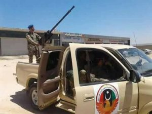 "A Pro-LNA ""Special Task Forces"" technical said to be in Sabratha today (Photo: social media)"