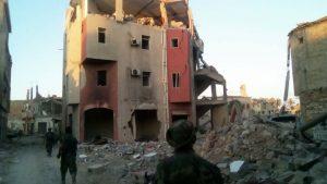 LNA troops move through Sidi Akribesh (Photo: supplied)