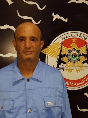 The alleged 'fuel smuggling boss, Ben Khalifa held by Rada (Photo: Rada).