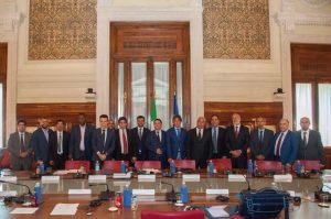 southern Libyan mayors at Italian foreign ministry (Photo: Social media)