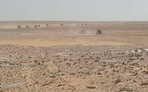LNA forces is the desert (Photo: LANA)