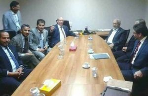 Photo showing Igtet with J&C leader Mohamed Sawan and Rachid Gannouchi