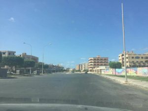 Deserted and blocked streets in Sabratha today (Photo: Sabratha media centre)