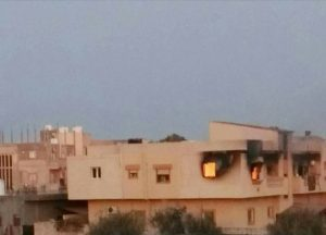 Damage in cenral Sabratha as a rsult of the fighting (Photo: Sabratha Media Centre)