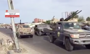 Armed vehicle in Sabratha,