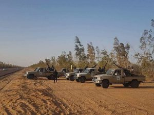 The force purportedly from Qatrun said to have close the southern birder today