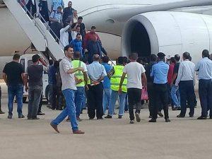 Gaem arriving Benghazi on 1 September (File photo)