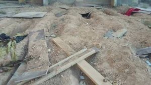 Some of the grave discovered in Ganfouda (Photo: social media)