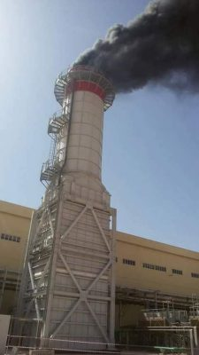 Obari power station's fourth turbine being tested last month (Photo GECOL)