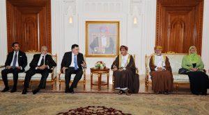 Serraj meets Sayyid Fahd Bin Mahmoud Al-Said, Oman's deputy prime minister