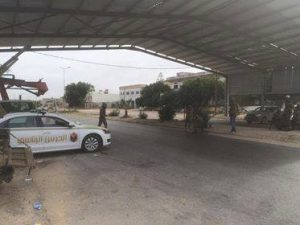 PG forces manning checkpoints along the much troubled main coastal highway between Tripoli and Zawia (Photo: PG).