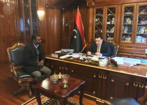 Serraj and deputy Tawergha council leader (Photo: PC media officie)