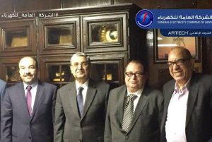 GECOL in Cairo with Egyptian Minister (2nd left) (Photo: GECOL)