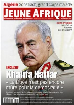 Hafter told French media that Libya was not yet ready for democracy (Photo: Jean Afrique).
