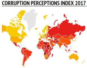 Libya continues to score low on the latest Transparency International Corruption Perception Index 2017.