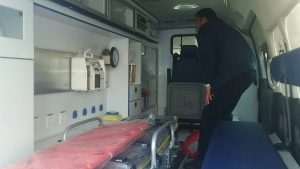 The Stabilization Fund for Libya, implemented by the UNDP, delivered ambulances to Bani Walid (Photo: UNDP).