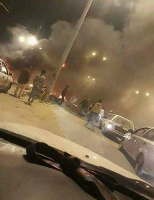Armed disturbances in Benghazi protesting the arrest of ICC-wanted Mahmoud Warfali (Photo: Social media).
