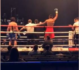 Malik Zinad (red shorts) wins his 11th consecutive fight (Photo: socialmedia).