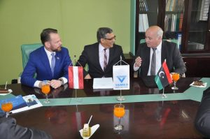 Austrian medical services company Vamed signed a contract to continue providing maintenance to equipment at the Tripoli Medical Centre (Photo: Presidency Council).