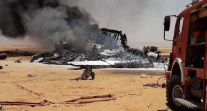 A military cargo plane carrying supplies crashes near the Sharara oilfield(Photo: NOC)