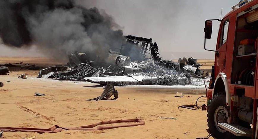 Military Cargo Plane Crashes Near Sharara Oilfield