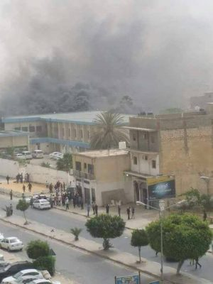 Terror ''suicide attack'' on Tripoli HNEC HQ kills at least 14 (Photo: social media).
