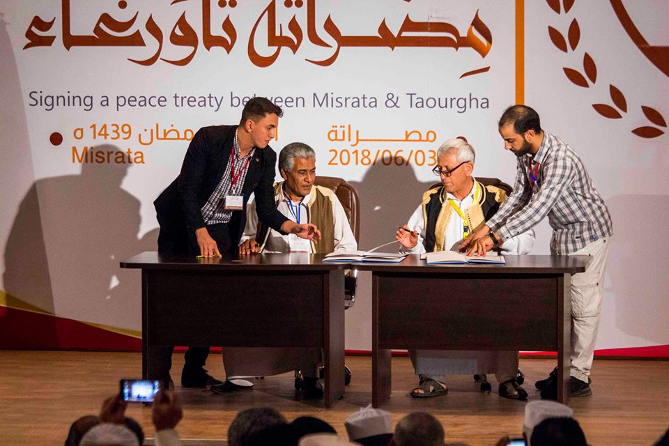 Misrata And Tawergha Sign Peace Deal Paving Way For Return
