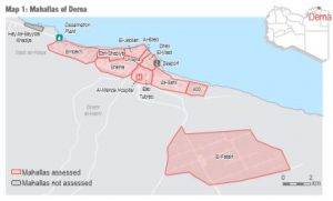 REACH conducted a study of the situation on the ground in Derna (Photo: REACH).