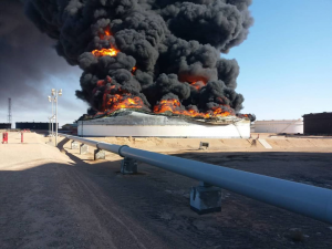 The damage caused by the oil crescent fighting that started last Thursday will lose Libya billions in oil revenue the NOC said (Photo: NOC).