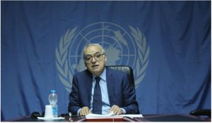 Ghassan Salame presenting his latest report on Libya to the UNSC yesterday (Photo: UNSMIL).