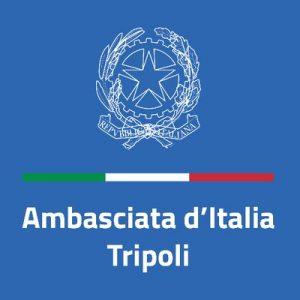(Logo: Italian embassy, Tripoli Twitter account).