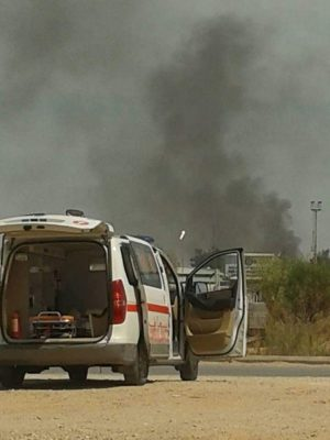 Deaths and injuries are escalating in south Tripoli militia fighting says the Tripoli Field Hospital (Photo: Tripoli Field Hospital).