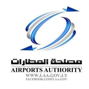 Mitiga airport is to reopen tomorrow, Libya's Airports Authority said today (Logo: LAA).