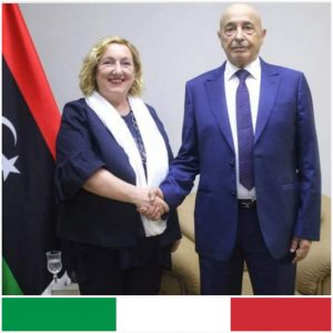 Italy has officially invited Ageela Saleh the head of the HoR to its Palermo conference on Libya next month (Photo: LH collage from HoR original)