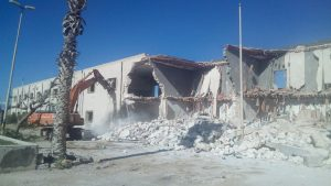 Tripoli Municipality is demolishing the former Girl's Military Academy compound in central Tripoli used as a militia base since the 2011 revolution (Photo: Tripoli Municipality).