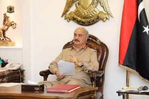 Khalifa Hafter, in his role as General Commander of the predominantly eastern-based LNA, has sent forces to the south of Libya to help impose security (Photo: eastern-based LANA).