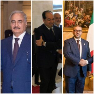 Libya's main political leaders have all been to Rome over the last week in preparation for the Palermo conference on Libya (Photo: Collage by LH).