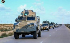 The LNA's War Media Department released these images purporting to be its forces moving on to and deterring what it called the Jadran-BDB forces at Sadada. It claimed that these forces were planning to attack the eastern Oil Crescent (Photo: LNA).