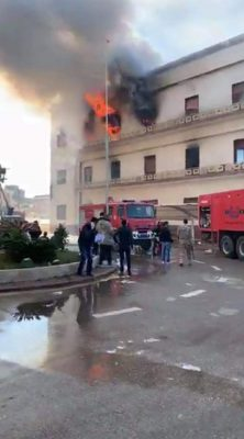 The Libyan Foreign Ministry has confirmed that there was a suicide terror attack on its Tripoli headquarters this morning leading to 3 deaths and 10 injuries (Photo: Libyan Health and Safety Authority).