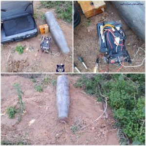 An explosive device was defused yesterday in the Ghoat al-Shaal district of Tripoli