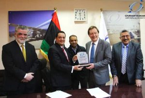 The UK signs an MoU with Libya's Airports Authority to supply it with explosives detectors (Photo: Libya's Airports Authority).