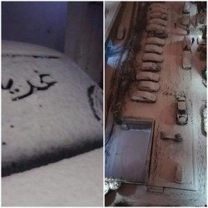 A cold snap hits Western Libya (Photos: Social media).