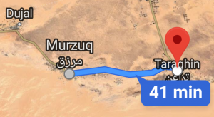 The LNA has claimed that its forces have pushed further south to Traghen (Photo: Google Maps).