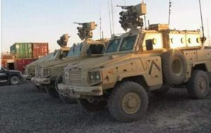 Some of the armoured vehicles seized by customs at Khoms port (Photo: Social media).