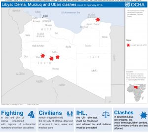 The UN expresses concern over humanitarian situation in Derna and the south of Libya (Photo: OCHA).
