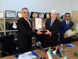 LBC Chairman Abdalla Fellah and Italy's Ambassador to Tripoli Giuseppe Buccino Grimaldi during Sunday's meeting in Tripoli (Photo: LBC).