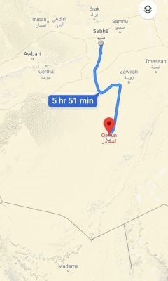 The LNA says it has reached the southern town of Gatrun (Photo: Google).