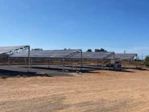 Aldabaiba visits model solar panel car park project